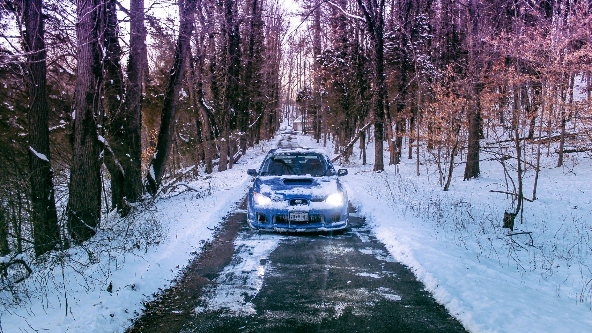 органических фото обои авто в снегу твоей