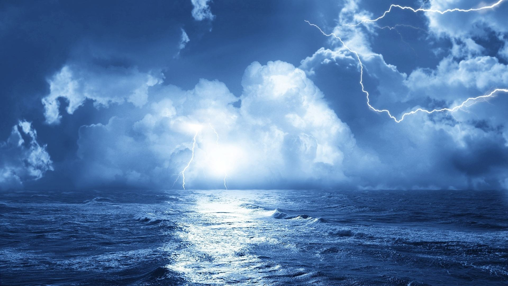 шторм обои на рабочий стол широкоформатные