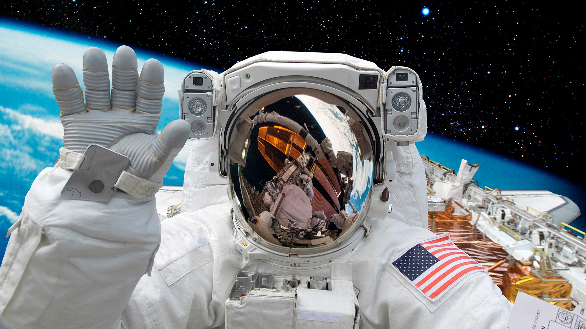astronaut chilling in space - 1024×677